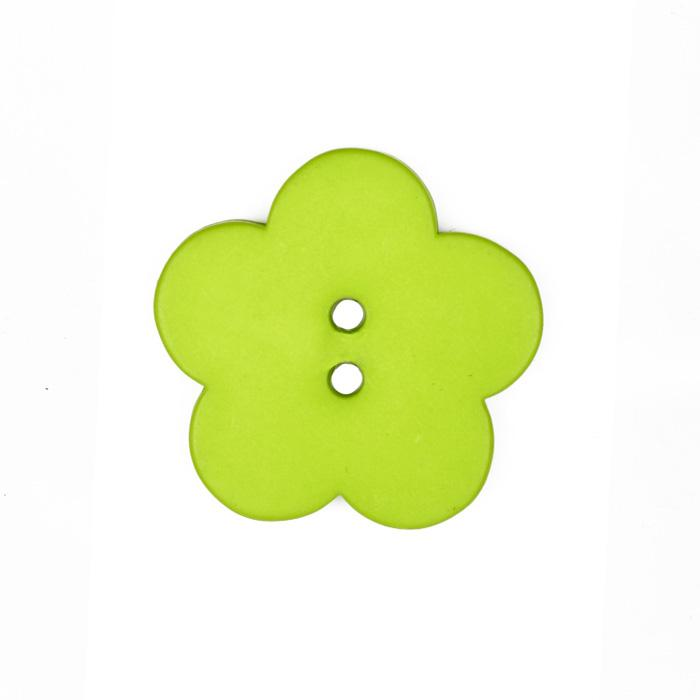 Novelty Button 1 1/2'' Posy Flower Lime
