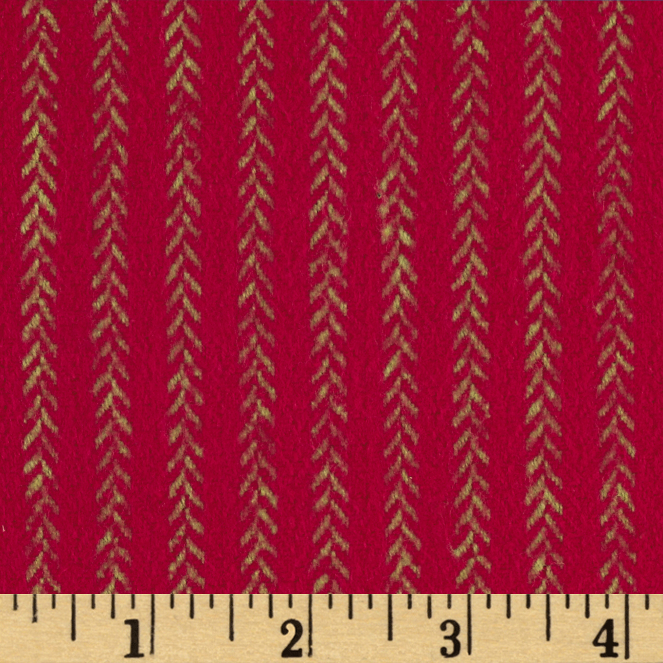 Primo Plaids Christmas Flannel Vine Stripe Red Fabric