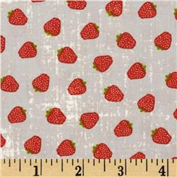 Moda Garden Project Strawberries Pebble Fabric