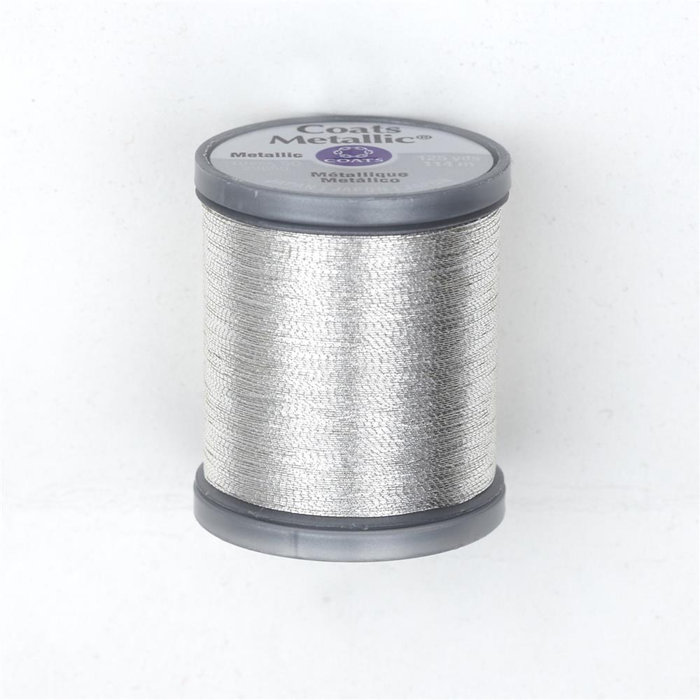 Coats & Clark Metallic Embroidery Thread 125 Yds. Silver