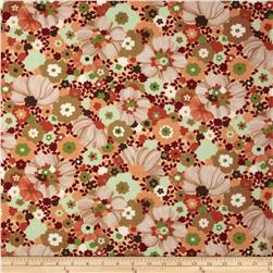 Moda Chirp Chirp Blooms Sunset Orange