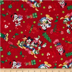 Christmas Disney Mickey & Friends Ho Ho Joy Red