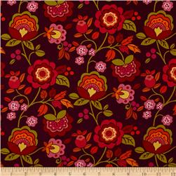 Intrigue Floral Garden Pink/Burgundy