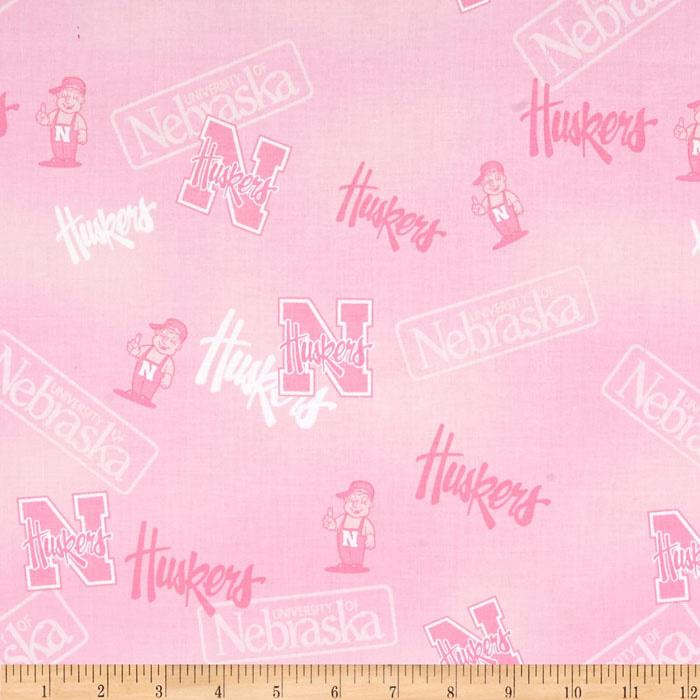Collegiate Cotton Broadcloth Nebraska Pink