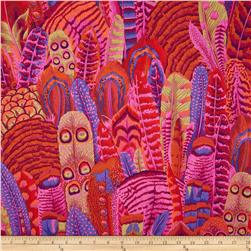 Kaffe Fassett Collective Feathers Red Fabric