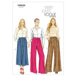 Vogue Misses' Pants Pattern V8836 Size B50
