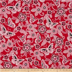 Rendezvous Butterfly Floral Red