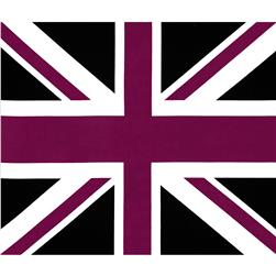 Riley Blake Union Jack 36'' Panel Purple