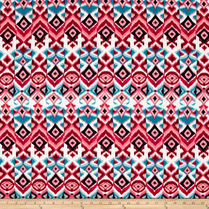 Jersey Knit Medallion Sequence Pink