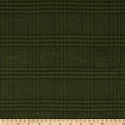 Primo Plaids Flannel Christmas II Large Plaid Tonal Green