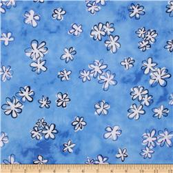 Daisy Love Flannel Daisies Small Blue