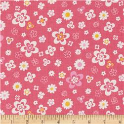 Flower Sugar Retro Flowers Pink