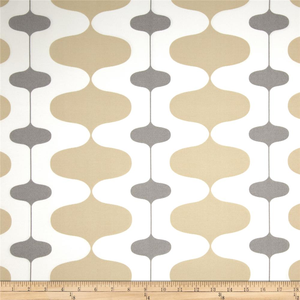 Premier Prints Indoor/Outdoor Ivon Sand/Grey