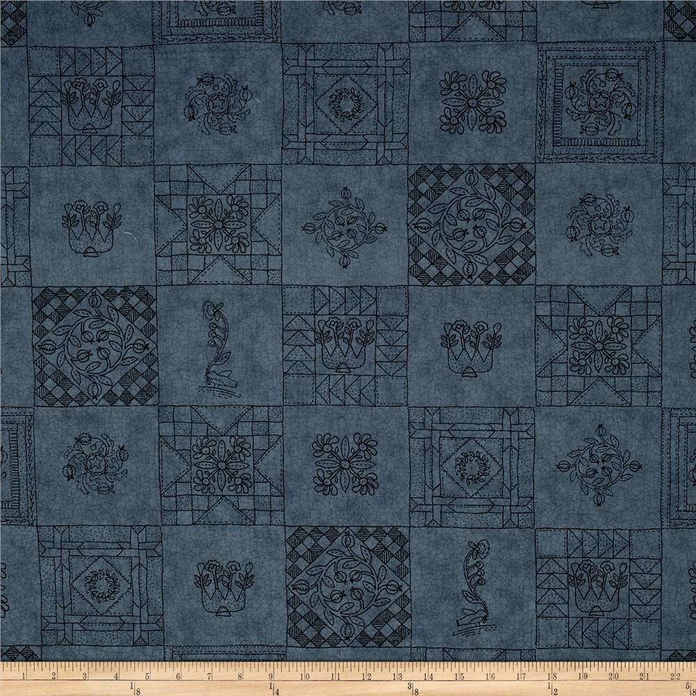 Moda Towne Square Quilts Blue Fabric By The Yard