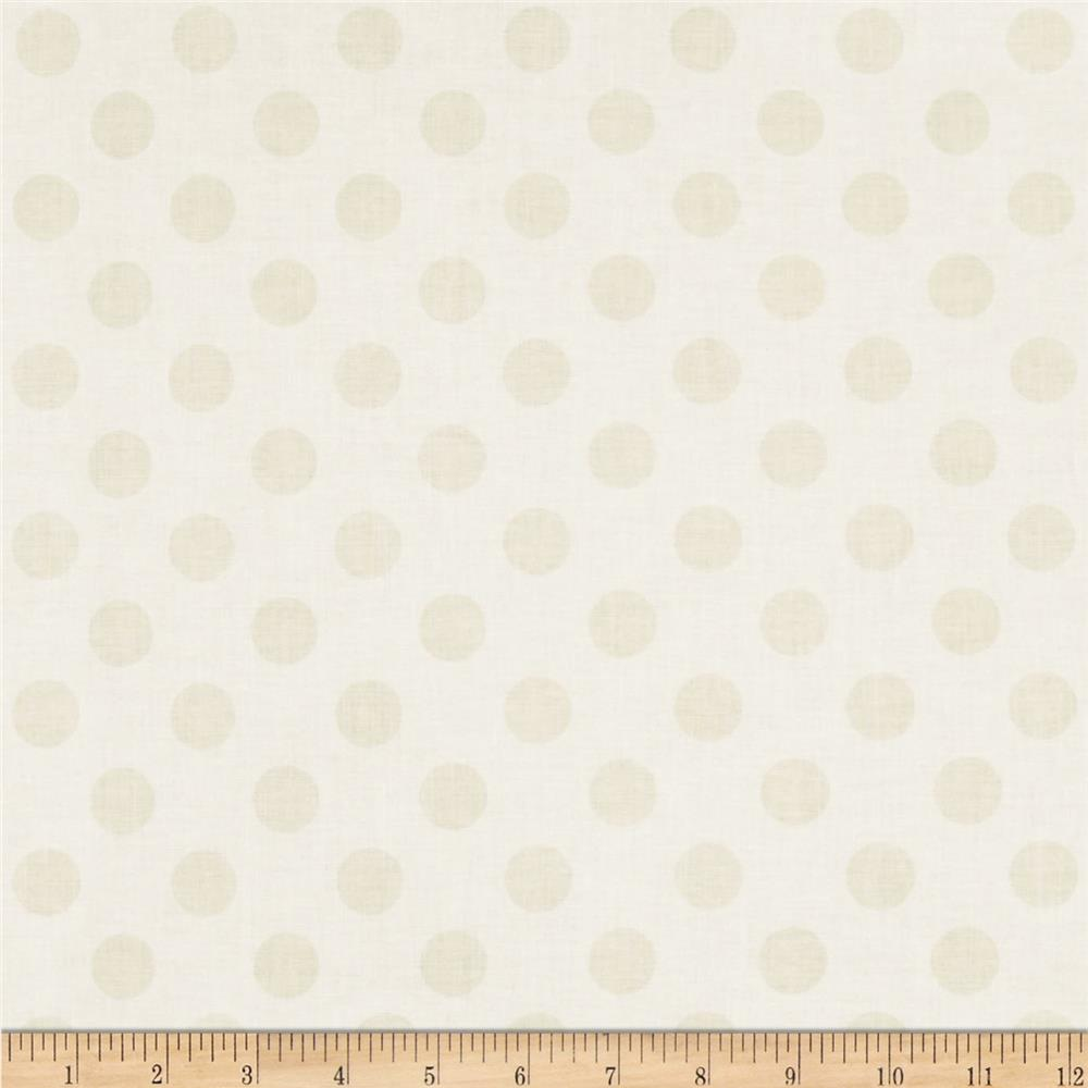 Riley Blake Cream on Cream Medium Dot