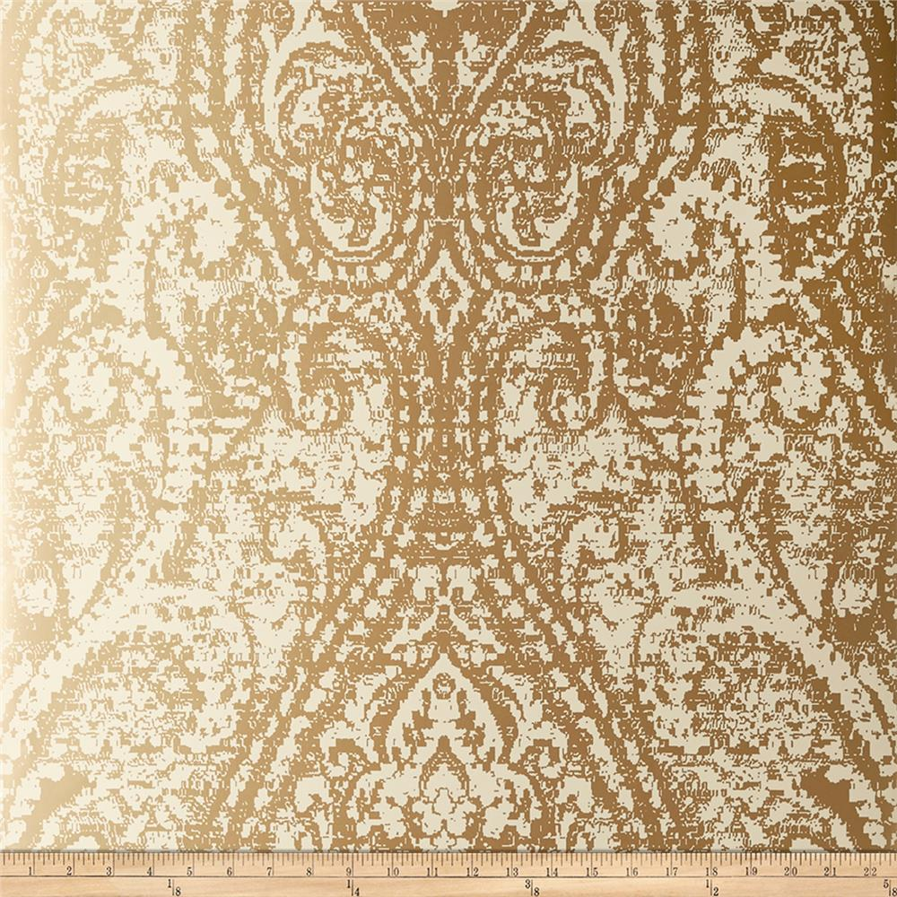 Fabricut 50172w Cachemire Wallpaper Gold-05 (Double Roll)