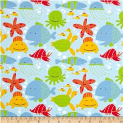 Beach Flannel Tossed Sea Creatures Coast