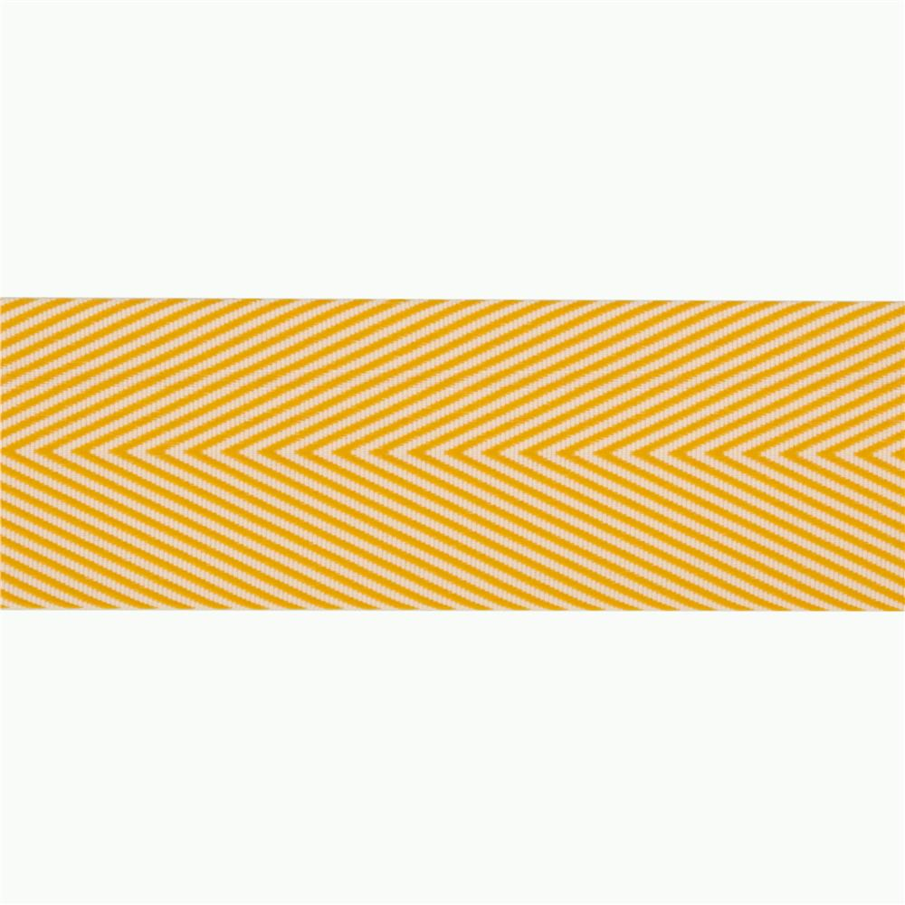 1 1/2'' Twill Tape Chevron Yellow