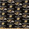 NFL Cotton Broadcloth Baltimore Ravens Black/Purple/Gold