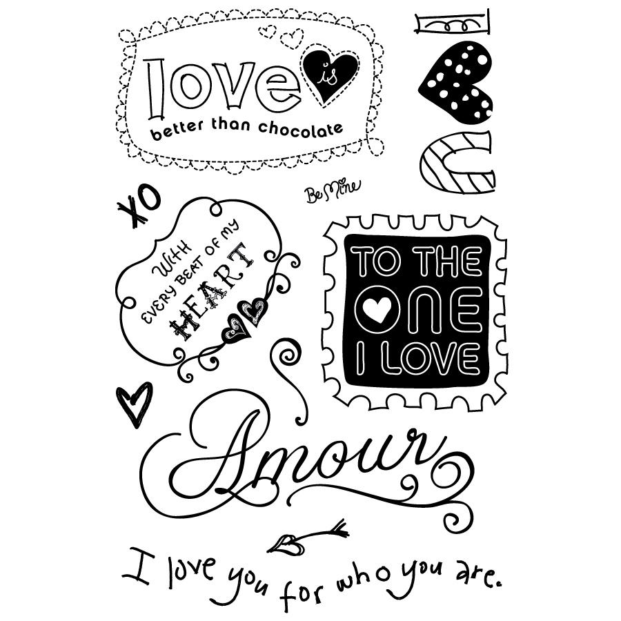 BasicGrey Sugar Rush Clear Stamps Amour