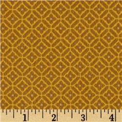 Bonsoir Flannel Dimaond Plaid Gold