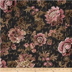 Mary May Metallic Tapestry Floral Charcoal/Gold