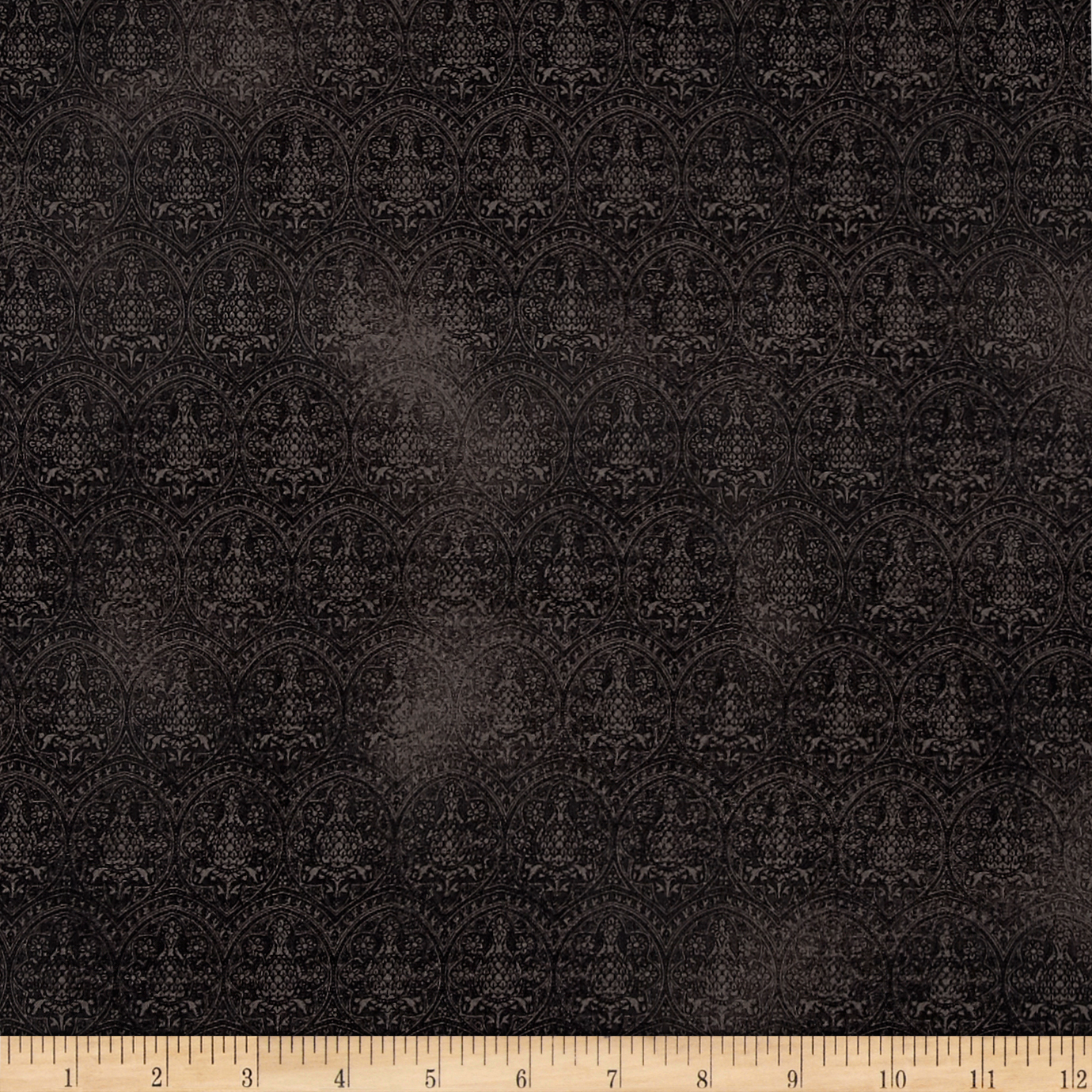 Letters From The Heart Lace Damask Black Fabric by Quilting Treasures in USA