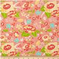 Moda LuLu Lane Flower Garden Peach