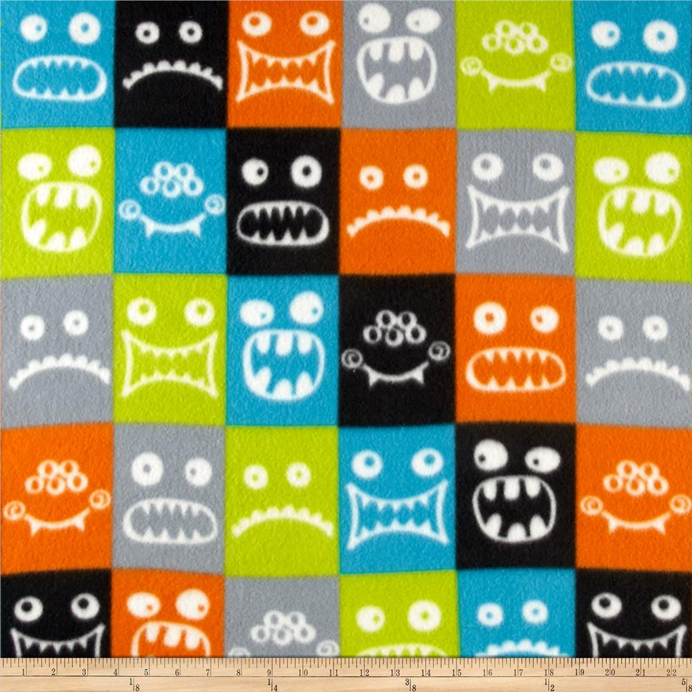 Fleece Print Monster Emotions Orange