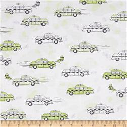 City Life Taxi Cabs Light Green