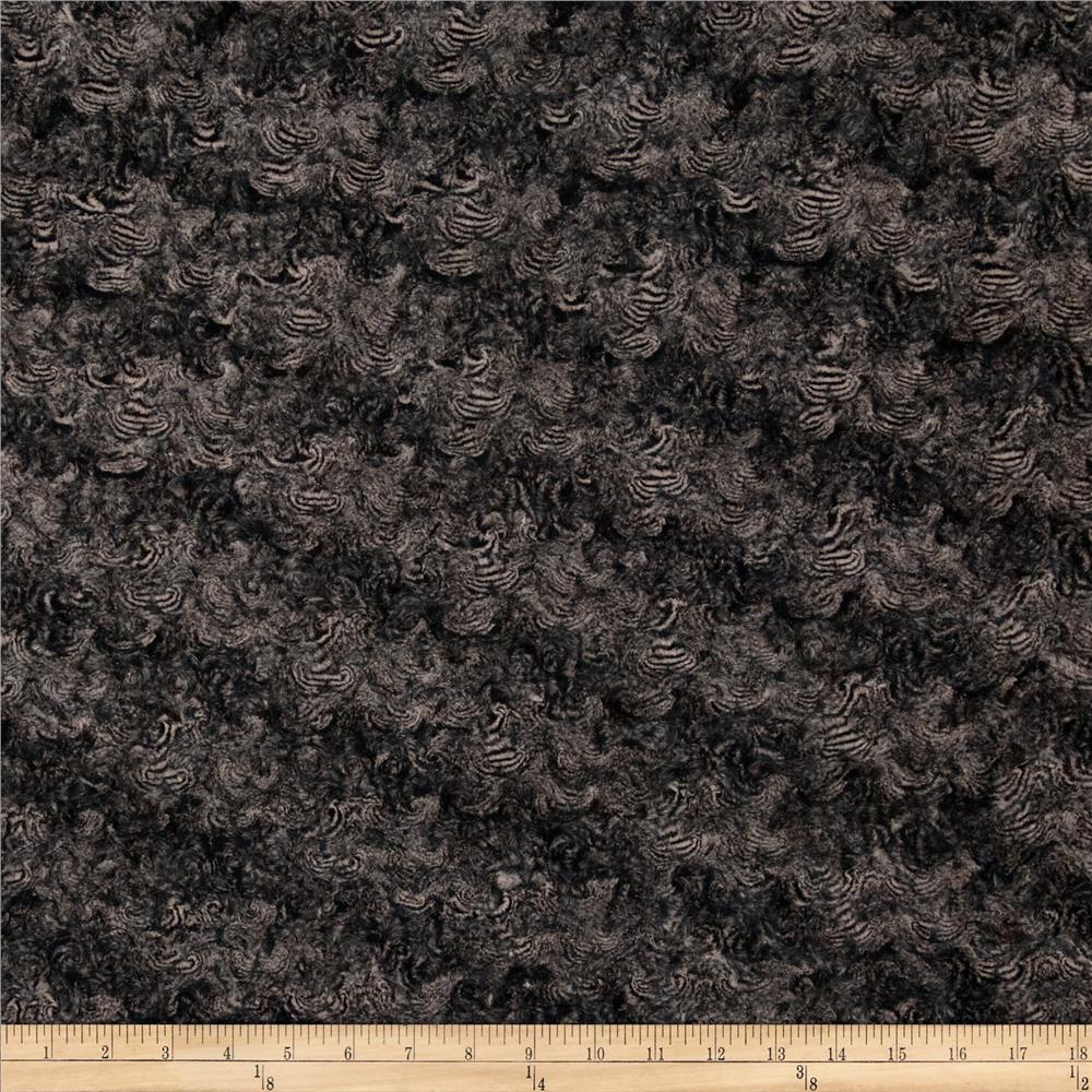 Minky Marble Rose Cuddle Black/Taupe