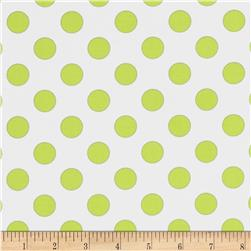 Riley Blake Laminated Cotton Dots Neon Yellow