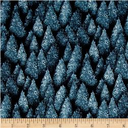 Woodlands Spirits Pine Trees Blue