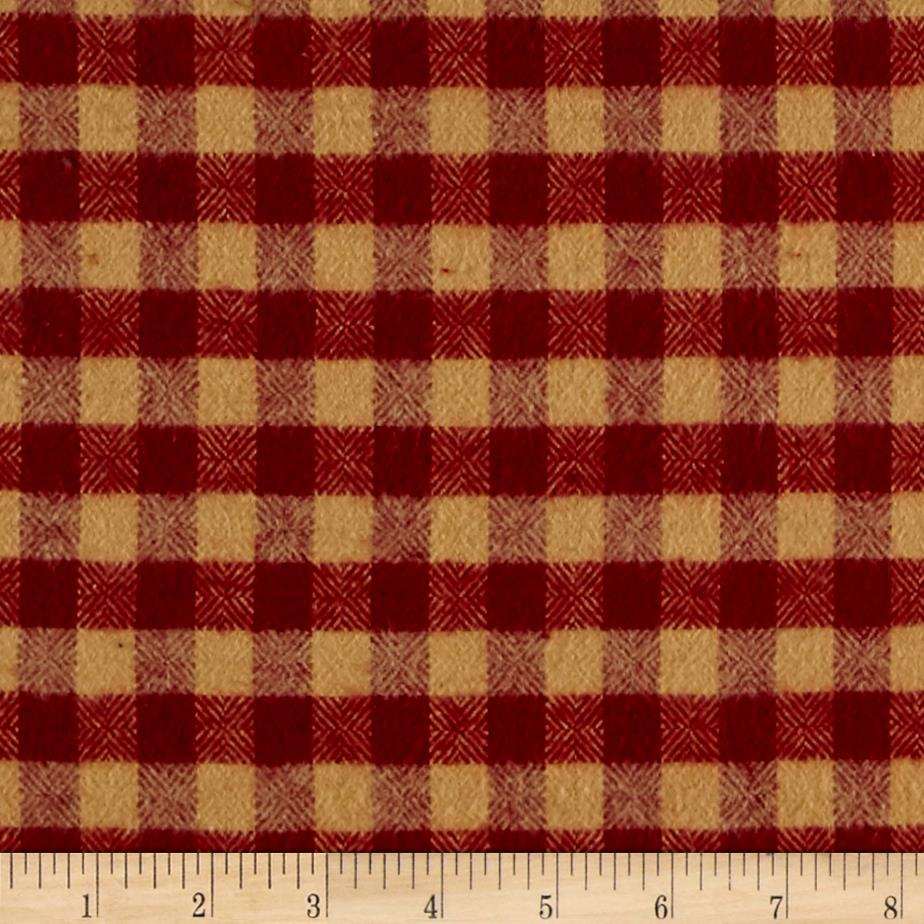 Primo Flannel Christmas Buffalo Plaid Red