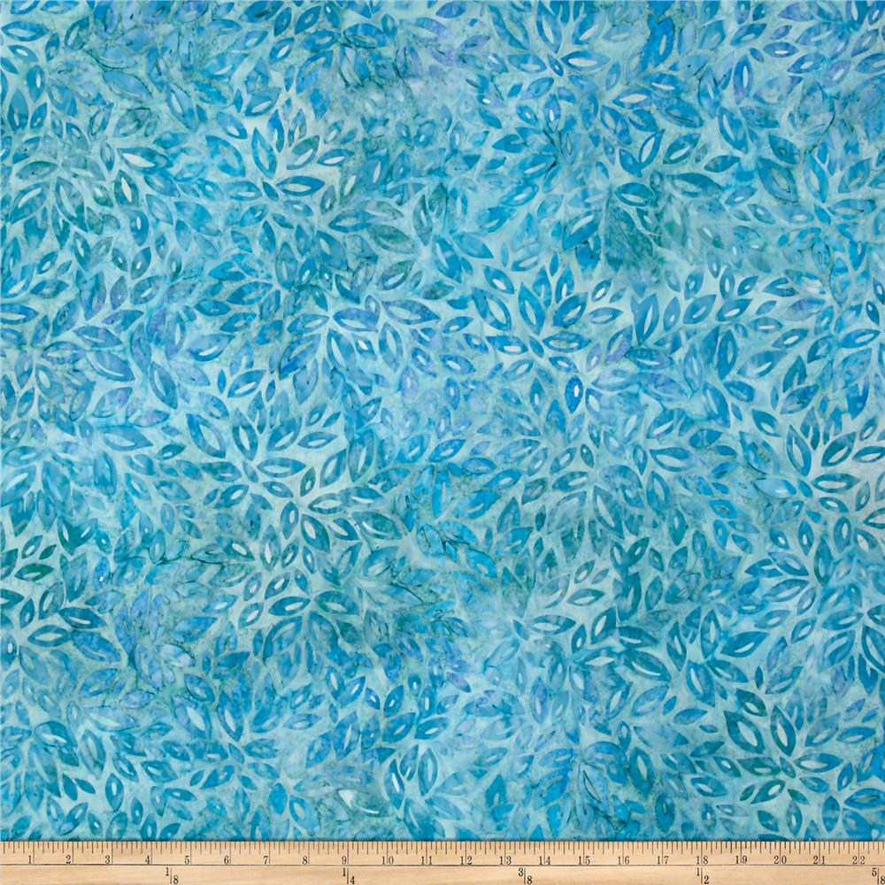 Kaufman Artisan Batiks Fancy Feathers Geo Shape Aqua