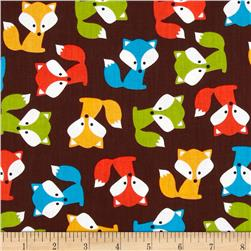 Urban Zoologie Foxes Brown Fabric