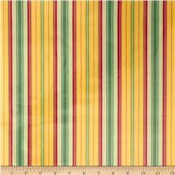 Heather Bailey Freshcut Laminated Cotton Lounge Stripe Gold