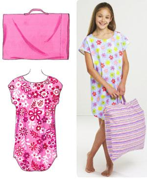 Kwik Sew Sleep Shirt and Pillowcase Learn To Sew Pattern