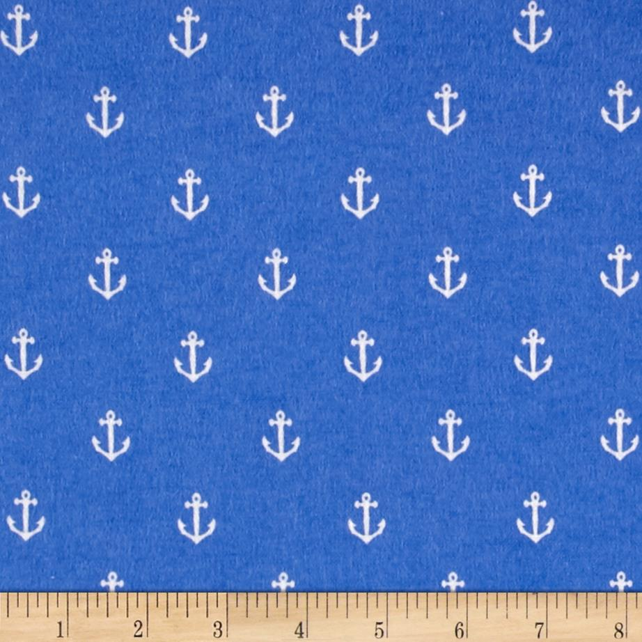 Michael Miller Flannel Sarah Jane Out To Sea Anchors Away Sailor