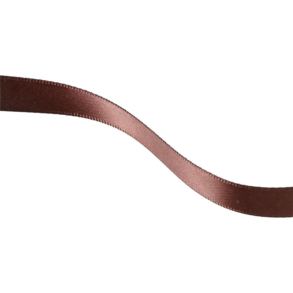 "May Arts 3/8"" Double Face Satin Ribbon Spool Brown"
