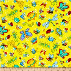 Timeless Treasures A Bug's Life Tossed Bugs Yellow