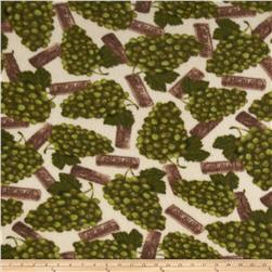 Vintage Fleece Grapes Olive