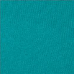 Basic Cotton Baby Rib Knit Solid Light Turquoise