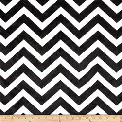 Kaufman Minky Cuddle Chevron Black/Snow Fabric