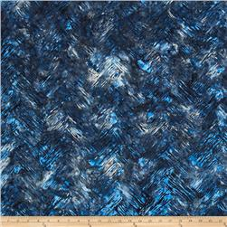 Bali Batiks Handpaints Chevron Brush Atlantic