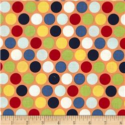 Riley Blake Pieces of Hope 2 Dots Orange