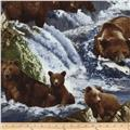Timless Treasures Into the Wild Bears Brown