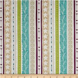 Freshly Picked Ticking Stripe Plum/Teal