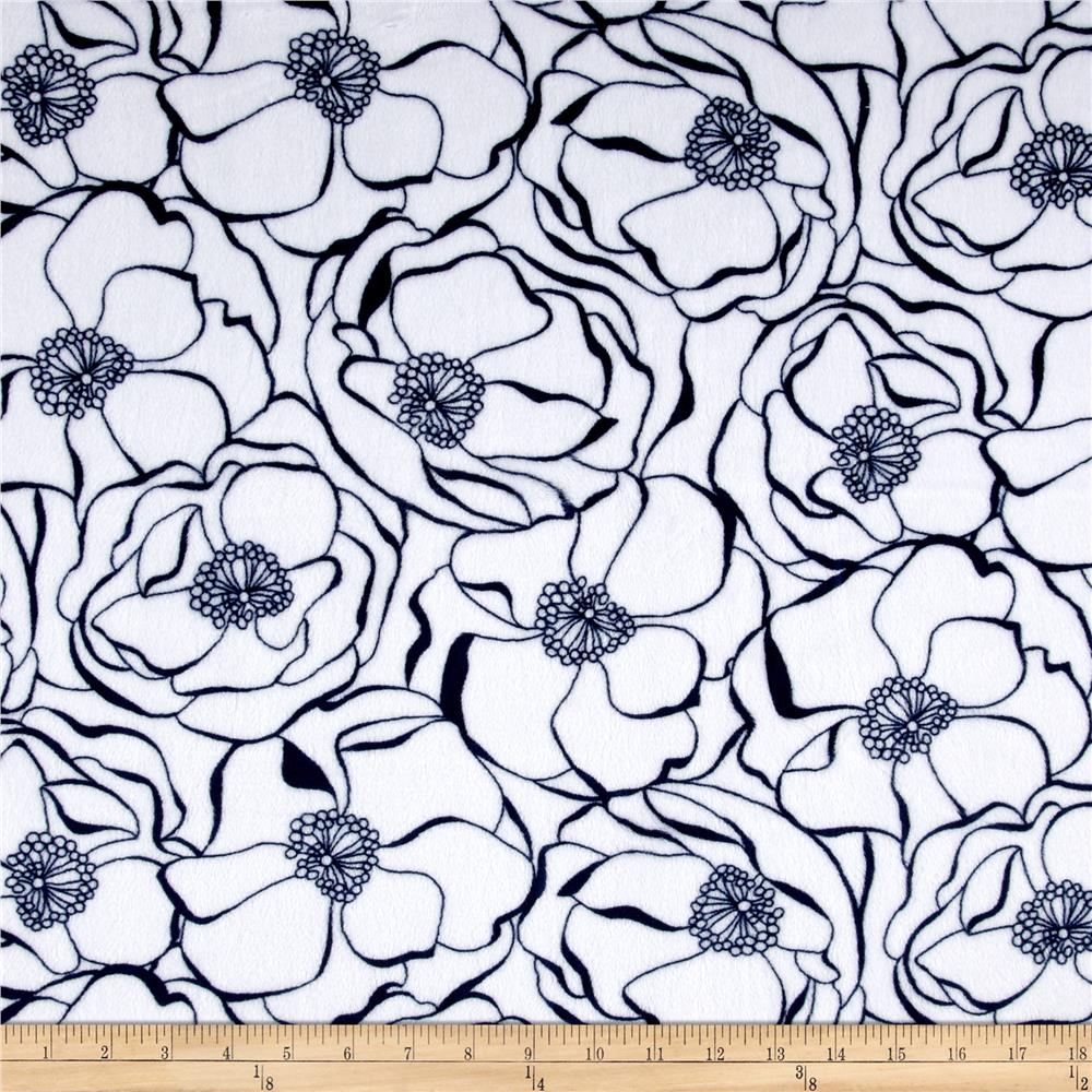 Minky Bouquet Cuddle Navy