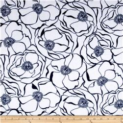 Shannon Minky Bouquet Cuddle Navy